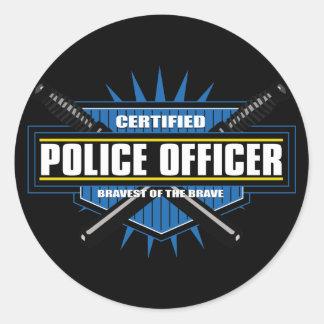 Policier certifié sticker rond