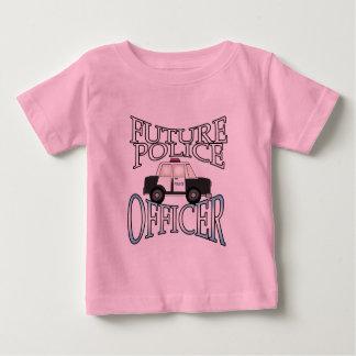 Policier de croiseur de police futur t-shirt pour bébé