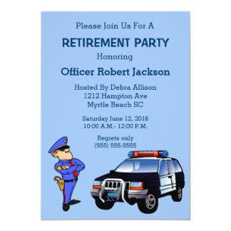 Policier et invitation de retraite de la police Ca