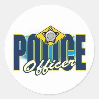 Policier Sticker Rond