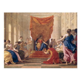 Poliphilus se mettant à genoux avant la Reine Carte Postale