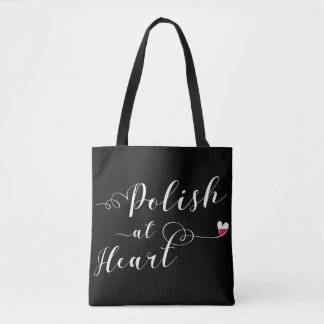 Polissez au sac d'épicerie de coeur, polonais