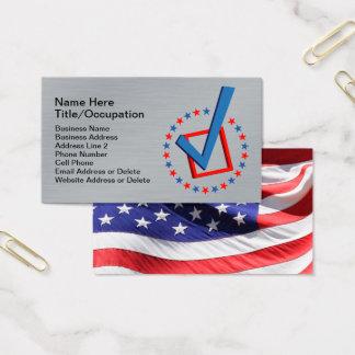 Politiciens balayés du drapeau   des Etats-Unis de Cartes De Visite