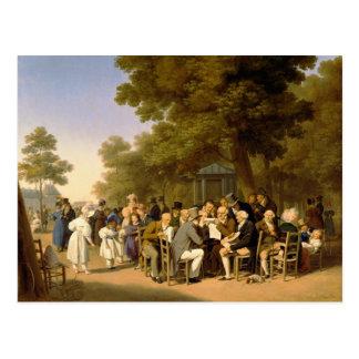 Politiciens dans les jardins de Tuileries, 1832 Carte Postale