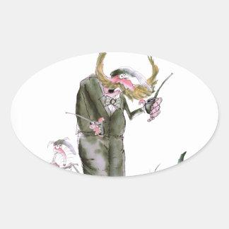 politiciens de Yorkshire d'amour Sticker Ovale