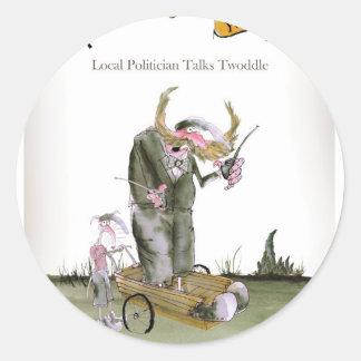 politiciens de Yorkshire d'amour Sticker Rond