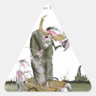 politiciens de Yorkshire d'amour Sticker Triangulaire