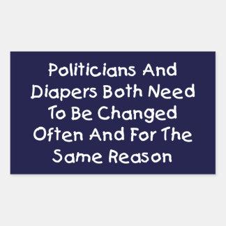 Politiciens et couches-culottes sticker rectangulaire