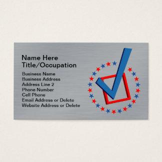 Politiciens professionnels balayés du vote | de cartes de visite