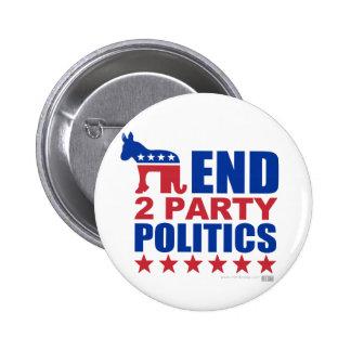 Politique de partis de la fin deux badges