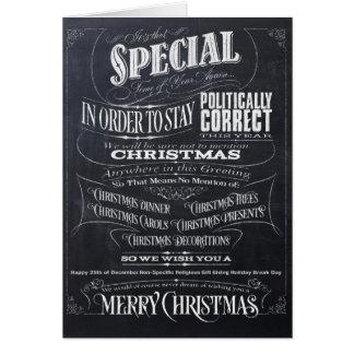 Politiquement carte de Noël correcte drôle de