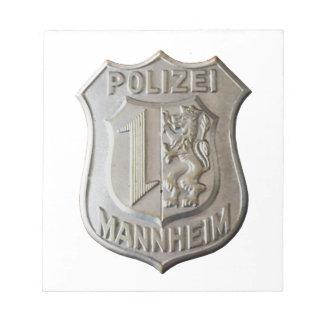 Polizei Mannheim Blocs Notes