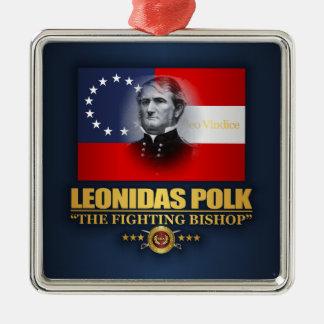 Polk (patriote du sud) ornement carré argenté