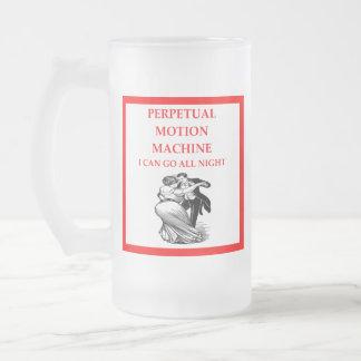 polka frosted glass beer mug