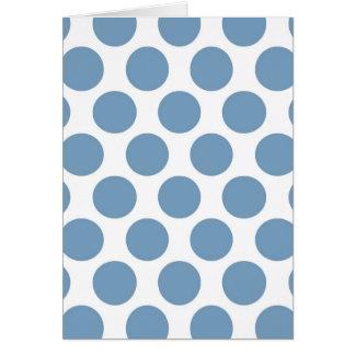 Polkadot bleu-clair carte de vœux