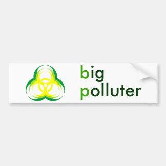 pollueur de fleur de biohazard grand autocollant de voiture