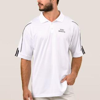 Polo Adidas jouent au golf des ruisseaux d'équipe de