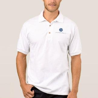 Polo blanc avec le logo bleu de la LR Polo