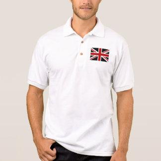 Polo Blanc rouge de noir de drapeau de l'Angleterre