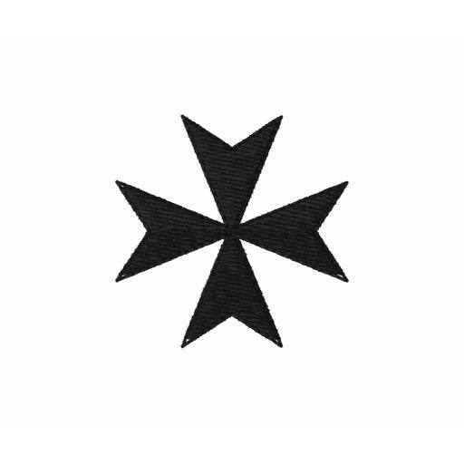 Polo brodé noir de croix maltaise