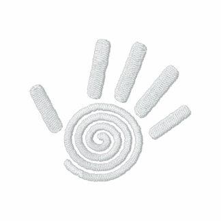 Polo brodé par copie en spirale de main de