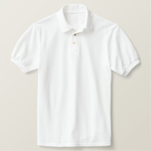 Blanc Embroidered Polos brodés pour homme