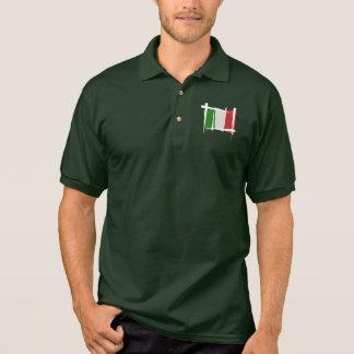 Polo Drapeau de brosse de l'Italie