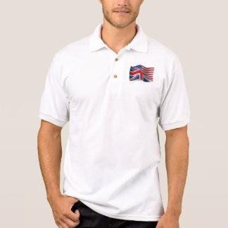 Polo Drapeau de ondulation Britannique-Américain
