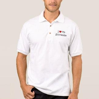Polo J'aime ma chemise de chien de Schnauzer