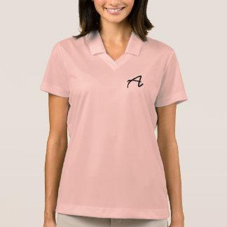 Polo La chemise décontractée rose des femmes avec le