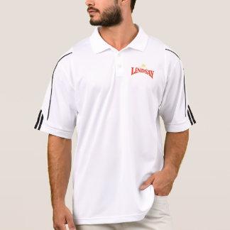 Polo Les hommes blancs/Adidas noir jouent au golf le