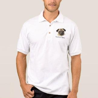 Polo Logo fait sur commande, chien de carlin, affaires