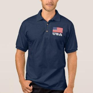 Polo patriotique avec le drapeau américain | polo