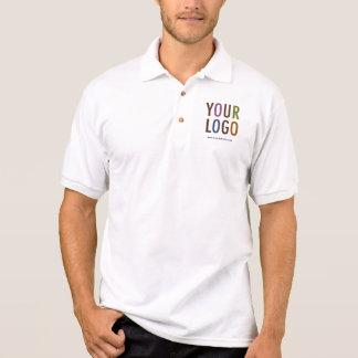 Polo Polo blanc d'affaires d'hommes avec le logo fait
