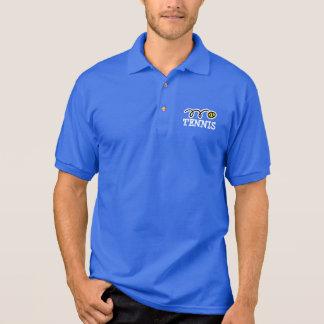 Polo Polo bleu de tennis avec le logo de sport et le