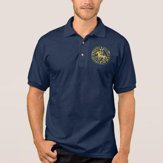 Polo Polo bleu navy sceau templier doré