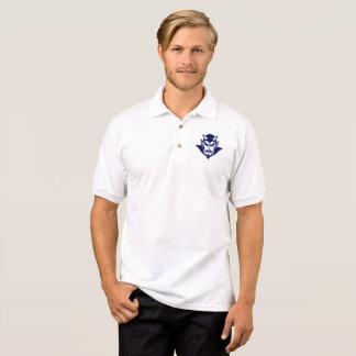 Polo Polo, bleu sur le blanc