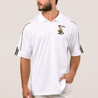 Polo Polo d'Adidas du golf des hommes avec le golfeur
