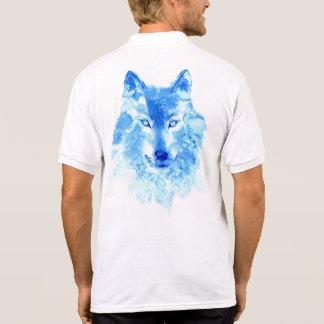 Polo Polo de loup d'hiver d'aquarelle