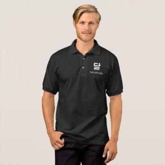 Polo Polo de noir de logo de Dallar
