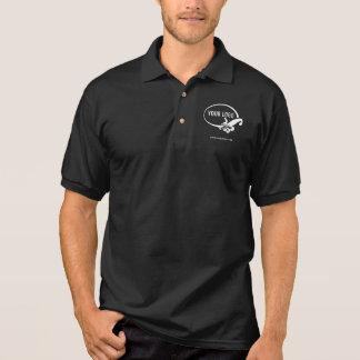 Polo Polo noir des affaires des hommes avec le logo