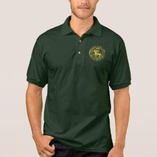 Polo Polo vert forêt sceau templier doré