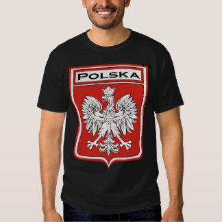 polska-foncé, bouclier de Polska/drapeau polonais T-shirt