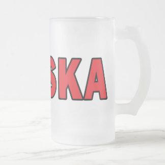 Polska Frosted Glass Beer Mug