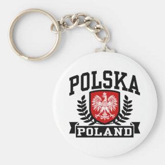 Polska Pologne Porte-clé Rond