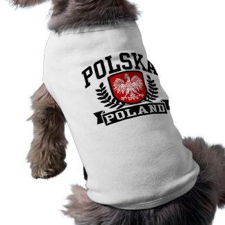 Polska Pologne T-shirt Pour Chien