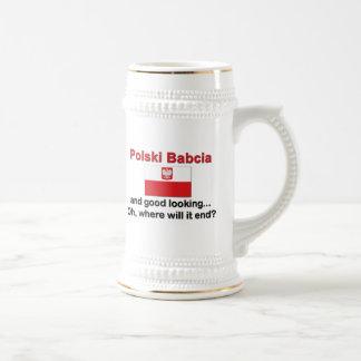 Polski beau Babcia (grand-mère) Chope À Bière