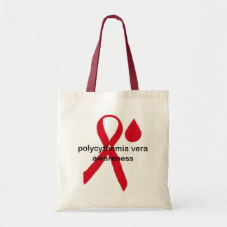 Polycythemia vera awareness tote bag