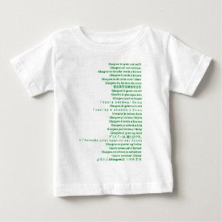 Polyglotte vert et blanc t-shirts