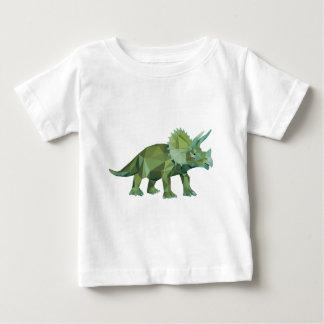 polygon graphic type triangle triceratops t-shirt pour bébé
